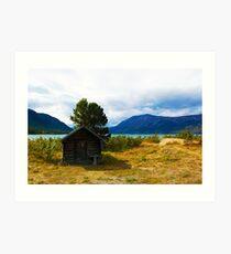 Tiniest Cabin in Carcross  Art Print