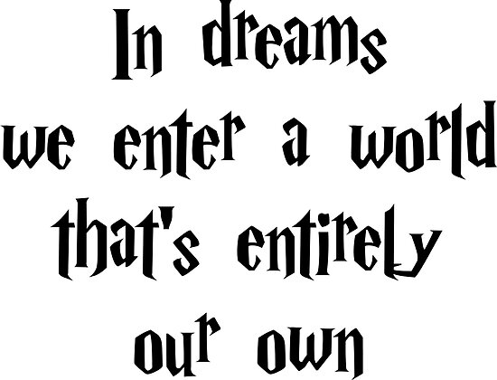 In Dreams We Enter A World Thats Entirely Our Own Poster Von Good
