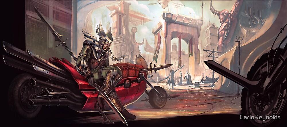 Comic Motorcycle City by CarloReynolds