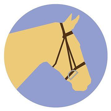 Minimalist Horse → Palomino/Lavender by e-q-u-i-t-a-t-e