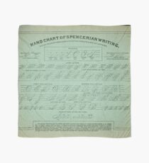 Hand Chart of Spencerian Writing   Scarf