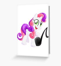 Crystal Sweetie Belle Greeting Card
