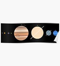 Minimalistisches Sonnensystem Poster