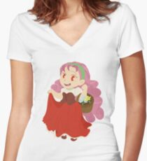 Popuri - Harvest Moon Women's Fitted V-Neck T-Shirt
