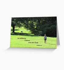 Stillness God Greetings Card Greeting Card