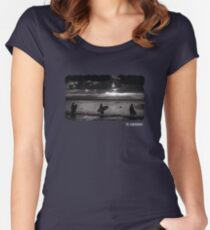 Sunset Surf Women's Fitted Scoop T-Shirt