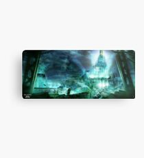 Final Fantasy VII - Midgard Metal Print