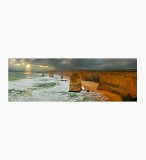 Stormy Twelve Apostles, Great Ocean Road, Victoria, Australia Photographic Print