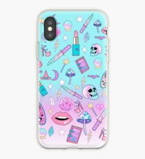 Girly Pastel Witch Goth Pattern iPhone Case