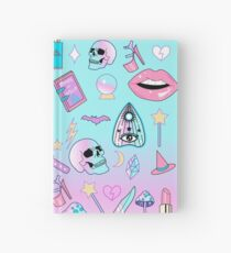 Girly Pastell Hexe Gothic-Muster Notizbuch