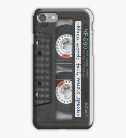Sony Blank Tape 80s iPhone Case