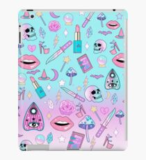 Girly Pastel Witch Goth Pattern iPad Case/Skin