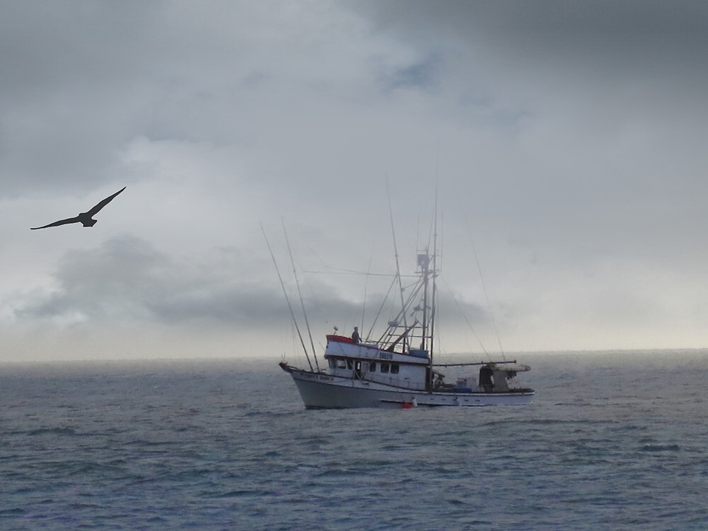 Fishing Boat on the Pacific by David Denny