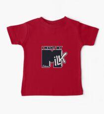 Camiseta para bebés Quiero mi leche