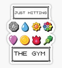 Pokemon hitting the gym Sticker