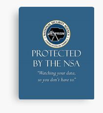 Protected by the NSA Canvas Print