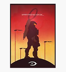 Spartan's Never Die - Halo Photographic Print