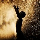 Playing In The Sprinkler by printscapes