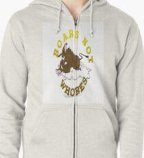 Bobby Baratheon Shirt White Zipped Hoodie