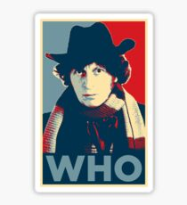 Doctor Who Tom Baker Barack Obama Hope style poster Sticker