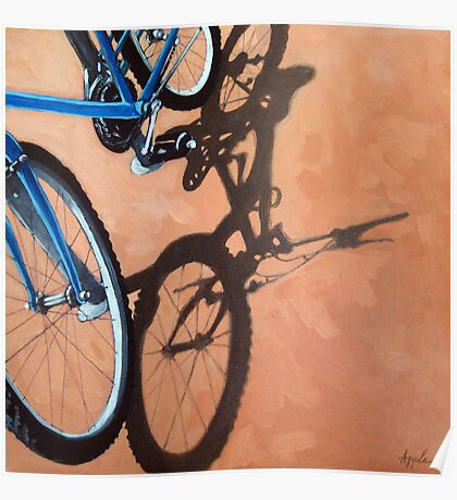 Just For One - Cycling bicycle art oil painting Poster