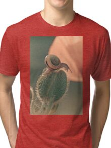 The poppy and the snail Tri-blend T-Shirt