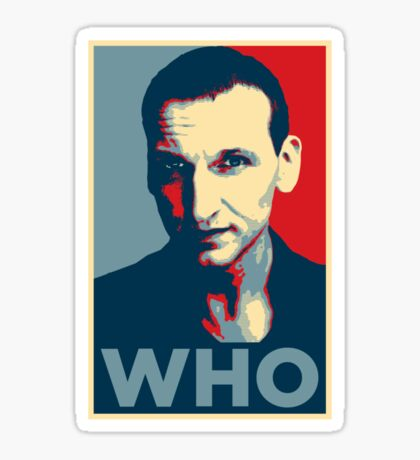 Doctor Who Chris Eccleston Barack Obama Hope style poster Sticker