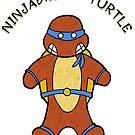 NINJABREAD TURTLE BLUE by Skree