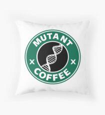 MUTANT COFFEE Throw Pillow
