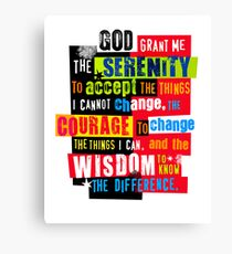 Serenity Prayer Original Graphic design Canvas Print