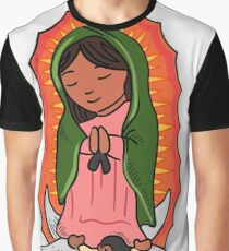Virgin Mary of Guadalupe Illustration Graphic T-Shirt