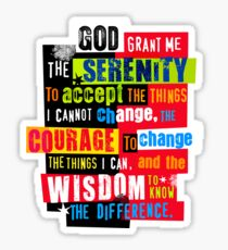 Serenity Prayer Original Graphic design Sticker