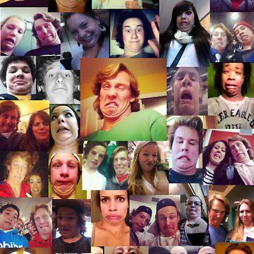 Multiple Chin Man + Friends by blakethewizz