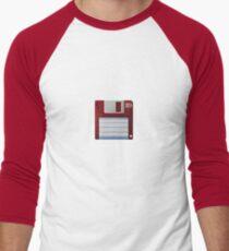 3.5 Inch Floppy Disk - Red Men's Baseball ¾ T-Shirt
