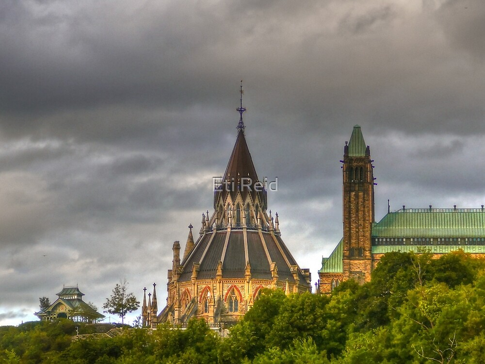 The parliament and library in Ottawa  by Eti Reid