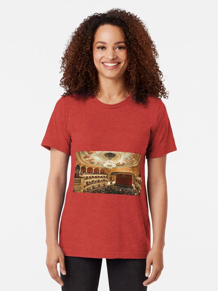 Alternate view of Budapest Opera House Tri-blend T-Shirt