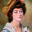 """""""portrait of young lady after Gustave Jean Jacquet """" by Hidemi Tada"""