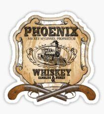 Hell on Wheels Inspired - Phoenix Saloon - Mickey McGinnes - Bohannon - Union Pacific Railroad - 1866 Nebraska - AMC Hell On Wheels Sticker