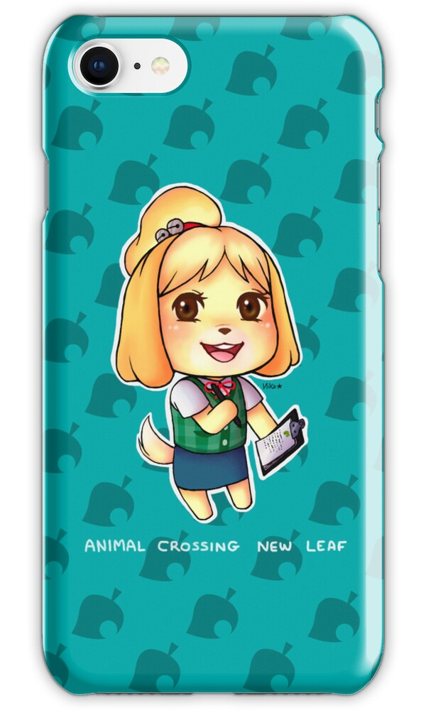 animal crossing for iphone quot animal crossing new leaf isabelle quot iphone cases amp skins 7791