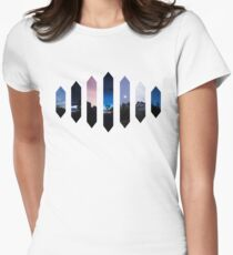 Scenic Crystals Womens Fitted T-Shirt