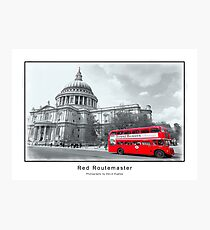 Red Routemaster Photographic Print