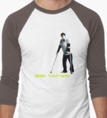 Walt Jr - Tread lightly - Large Men's Baseball ¾ T-Shirt