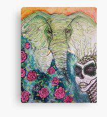 Elephant Keeper Metal Print