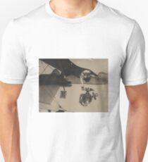Vintage Black and White Military Bulldog Aviation Unisex T-Shirt