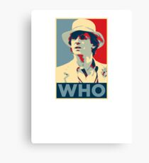 Doctor Who Peter Davison Barack Obama Hope style poster Canvas Print