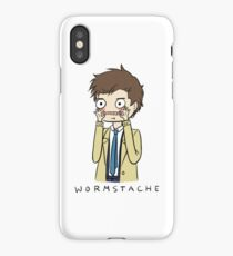 Castiel Wormstache iPhone Case