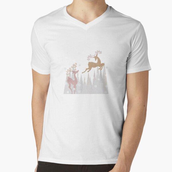 Christmas Deer V-Neck T-Shirt