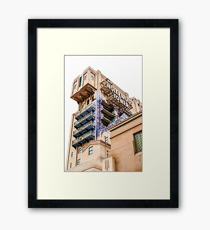 The Hollywood Tower Hotel Framed Print