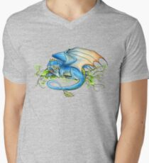 Slumbering Sky - Dragon Men's V-Neck T-Shirt