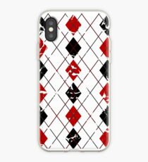 Argyle Red/Black iPhone Case